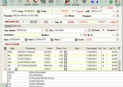 scheda accettazione input software analisi