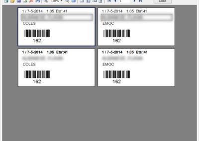 Esempio stampa etichette provette del laboratorio di analisi