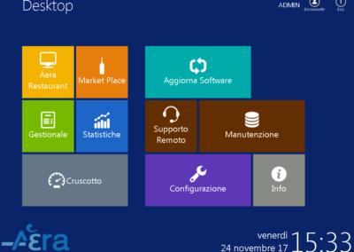 Pannello amministrazione software Aera Touch